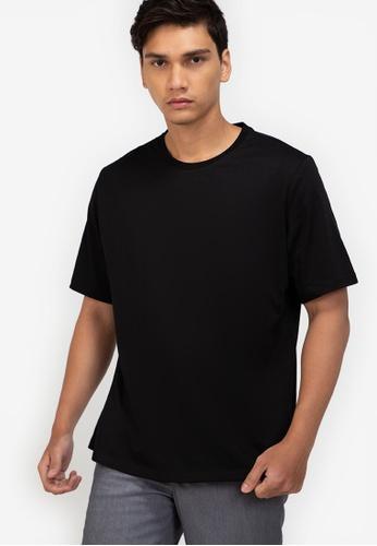 ZALORA BASICS black Relaxed Fit T-Shirt E2EE7AAF46F352GS_1