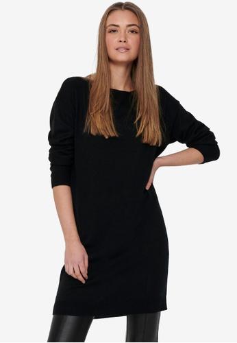 ONLY 黑色 Amalia 長袖洋裝 814CEAA6F361EEGS_1