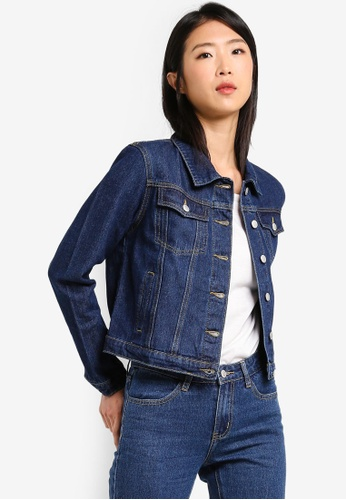 ZALORA BASICS blue Basic Classic Denim Jacket F76CBAA3479B35GS_1
