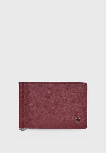 Tocco Toscano red Pomino Bi-fold Wallet w/ Money Clip (Maroon) TO281AC04ZLZSG_1