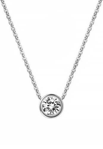 CELOVIS silver CELOVIS - Lux Zirconia with Round Bezel Solitaire Pendant Necklace (SILVER) 1F91FACD97465EGS_1