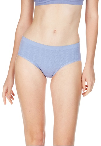 6IXTY8IGHT blue Rumba Solid, Cable Knit Hiphugger Panty PT09916 F762CUS95D1E6AGS_1