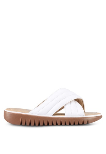 Mimosa white Crossover Slip On Sandals CD1B1SH383F8A4GS_1