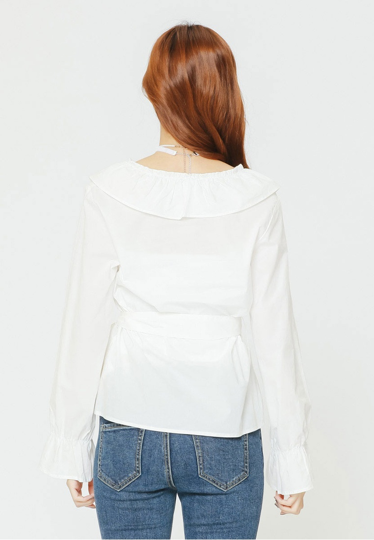 Ruffled Top White H Bow CONNECT RExHY