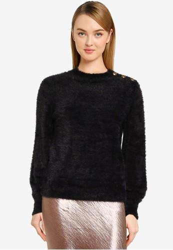 Banana Republic black Eyelash Volume Sleeve Sweater 2912EAA0D4A838GS_1