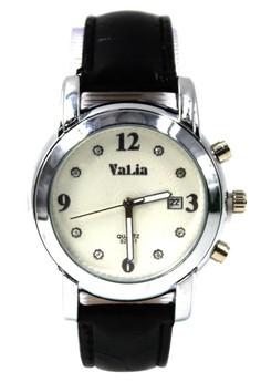 Valia Wynx Leather Strap Watch 8211-1