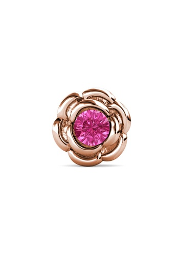 Her Jewellery gold Petunia Brooch (October, Rose Gold) - Made with Premium grade crystals from Austria B2B83ACEA49ECEGS_1