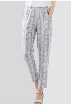 Grid Lines Printed Cool Pants