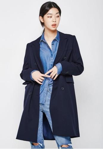 雙排鈕長版外套, 服飾esprit手錶專櫃, 外套