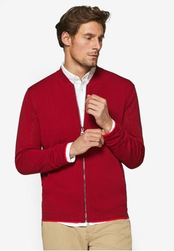 ESPRIT 紅色 長袖罩衫 18A67AA1050FB1GS_1