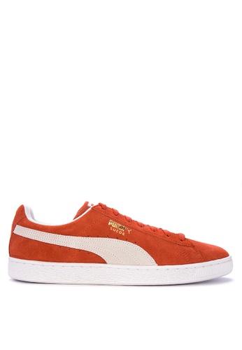 Puma red and multi Suede Classic Sneakers 7D5E1SHB4D08BBGS_1