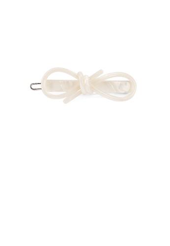 Glamorousky white Simple and Fashion White Ribbon Hair Clip 5B11BAC6AAB216GS_1