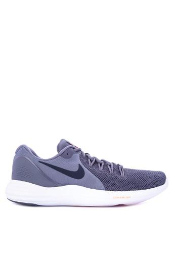 Nike black and grey Men's Nike Lunar Apparent Running Shoes NI126SH0KPVAPH_1