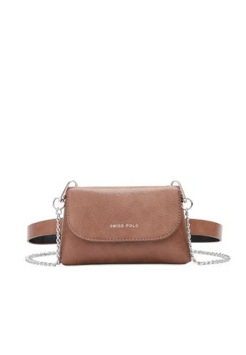 Swiss Polo beige 2-Way Usage Chain Bag 533F4AC73241B9GS_1