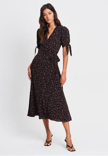 Sável black Shania Wrap Dress 477BEAA1AECF20GS_1