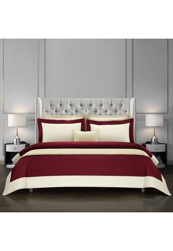 Epitex Epitex Hotel Collection HC2301-1 1200TC Red / Ivory Bedset. 93EE1HL0592CEFGS_1
