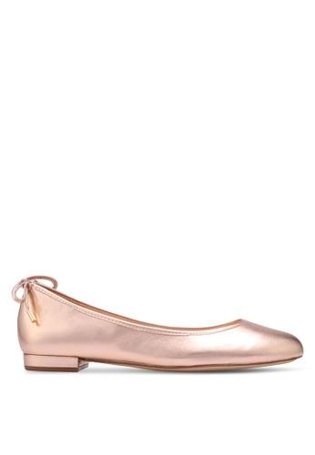 ALDO 銀色 蝴蝶結平底鞋 600DCSH1B7370BGS_1
