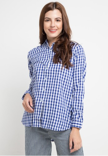 Lois Jeans blue and multi Checked Shirt 50701AA5F10403GS_1