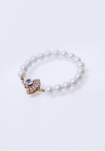 幾何鋯石珍珠手環, 飾品配esprit 錶件, 手鐲 & 手環