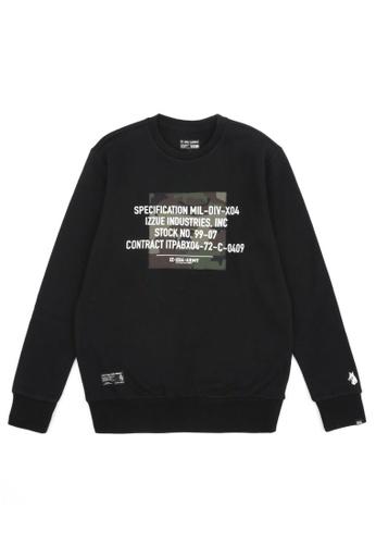 izzue black Appliqued sweatshirt C271BAAD80804FGS_1