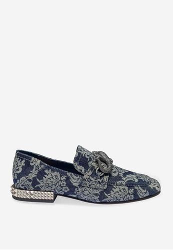 ASH 藍色 Exodus - 藍色印花平底鞋 D3867SHE30C4B5GS_1