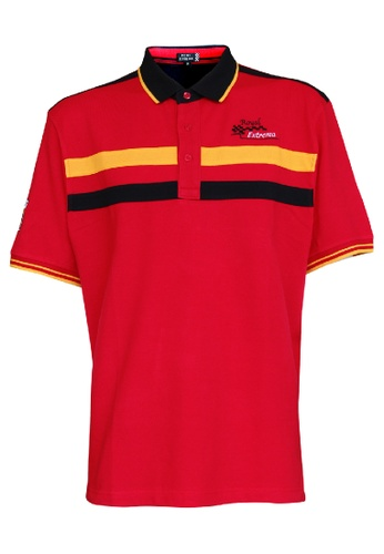 Royal Extrema red Royal Extrema Men Big Size Racing Cut & Sew Short Sleeve 0XL-6XL Plus Size RE2032 (RED) 31CEFAA30F6BE9GS_1