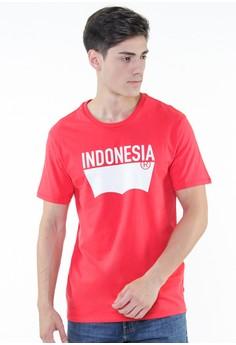 harga Levi's Destination Tee Indonesia - Red Zalora.co.id