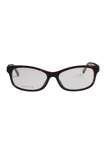 Gucci brown GUCCI Eyewear 3832/F KCL GU112AC66OVDMY_1