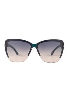 ece49038c60b0 Tom Ford blue TOM FORD Poppy Square Blue Sunglasses TF457 TO545AC19JGUMY 1