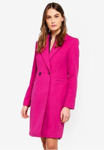 Vero Moda pink Rambla Cala 3/4 Coat 4CA30AA738EC2BGS_1