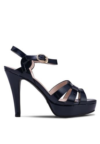 prettyFIT navy Patent Platform High Heel Sandals ADDA5SH8CC86B2GS_1