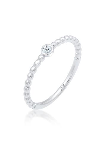 ELLI GERMANY silver Elli Germany Geo Diamond (0.03 Ct.) 925 Sterling Silver Engagement Ring E9E61ACBF01EEEGS_1