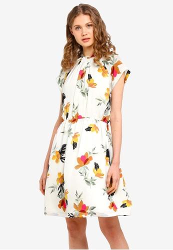 ESPRIT white Light Woven Floral Mini Dress BAF3AAA3004103GS_1