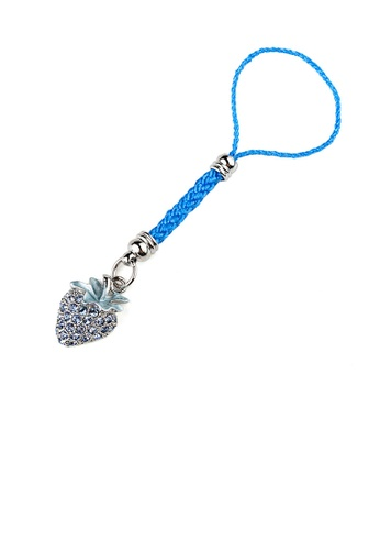 Glamorousky blue Light Blue Strap with Strawberry Charm by Blue Austrian Element Crystals 989B5AC4A46D44GS_1