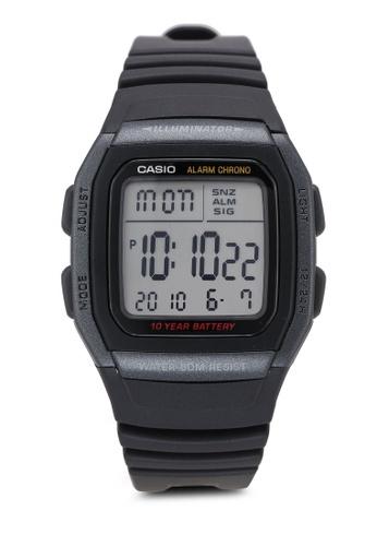 Casio black Casio W-96H-1BVDF Watch 41A4DAC8AE55A1GS_1