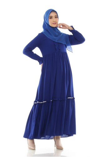 ZAYIDAN blue Home Dress Naura - Benhur 18091AA2ACC46AGS_1