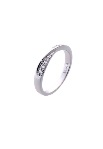 The LoveMark silver Double-Heart Tie Ring with Artificial Diamonds for Women lr0041f TH516AC23VGMPH_1