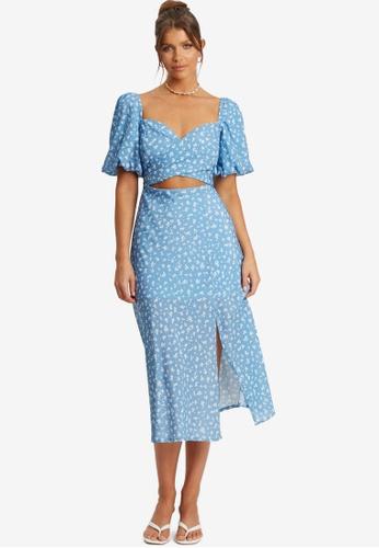 Savel blue Roselle Midi Dress 05FA9AAC0BD0CAGS_1