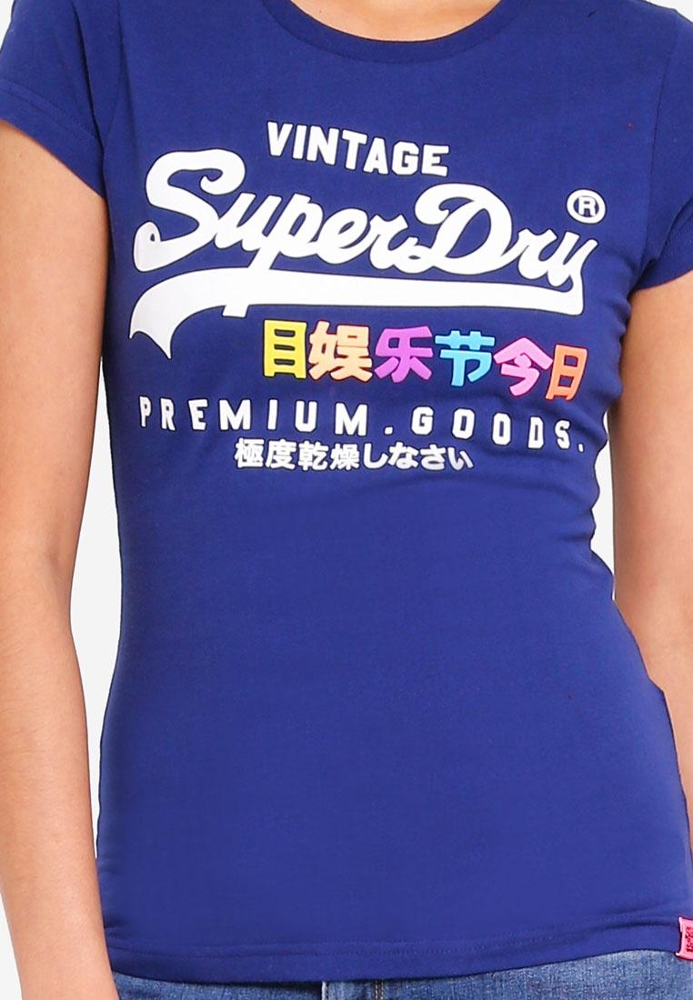 Superdry Tee Premium Goods Entry Supermarine Navy Puff rrH7na