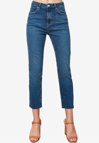 Trendyol blue High Waist Slim Fit Jeans 82604AAFEA3F4DGS_1