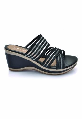 LENO black Blaforwy Wedge Sandals (LS36614) LE122SH0RQK0MY_1