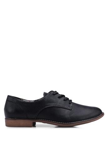 Bata 黑色 綁帶牛津鞋 C81D6SHC9B37AEGS_1