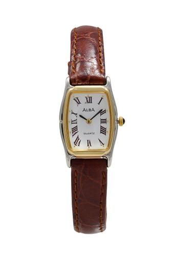 Alba brown ALBA Jam Tangan Wanita - Brown Silver Gold - Leather Strap - ARYK74 4305FAC3CF9A6AGS_1