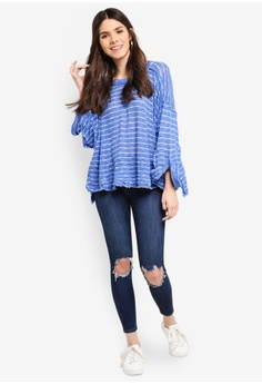 75% OFF Free People Striped Island Girl Hacci Top S  119.00 NOW S  29.90  Sizes S M L a9398fe3c
