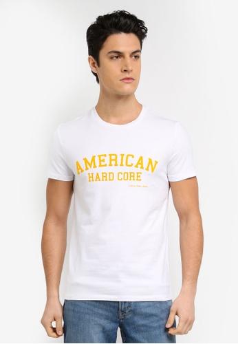 Calvin Klein white Telmo 3 Slim Crew Neck Short Sleeve T-Shirt - Calvin Klein Jeans 7B7A1AA0CF7978GS_1