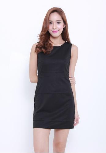Leline Style black Sheris Dress LE802AA35AIISG_1