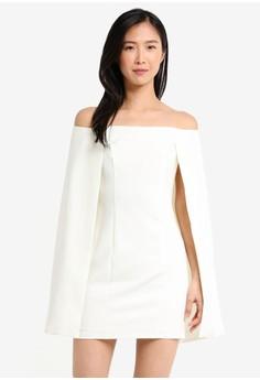 Image of Bardot Cape Tailored Mini Dress