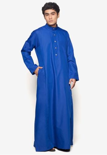 Amar Amran blue Jubah A Regular Fit AM362AA19NBGMY_1
