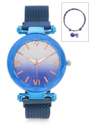La Maison D'Evolette blue Stardust Watch Set with Lapis Lazuli Gemstone D1ABEAC81AA925GS_1