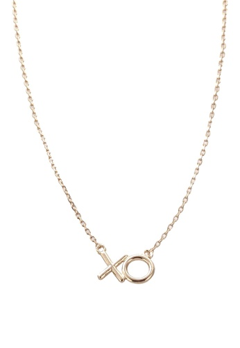 Orelia London gold XD TSP XO Giftcard Necklace OR747AC0SC2WMY_1